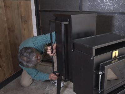 耐熱レンガの取り付け方1